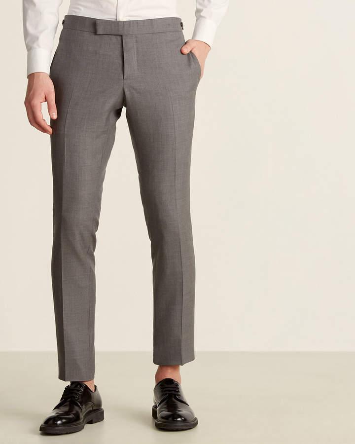 Thom Browne Grey Side Tab Wool Trousers