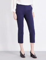 Sportmax Cropped mid-rise cotton-blend trousers