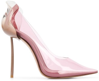 Le Silla Petalo transparent pumps