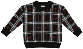BURBERRY KIDS Donnie Check wool sweater