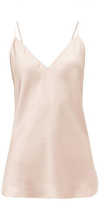 Lee Mathews - Stella V-neck Silk-satin Camisole - Womens - Light Pink