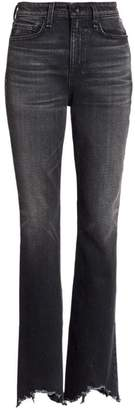 Rag & Bone Bella High-Rise Split Raw Hem Flare Jeans