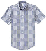 Brooks Brothers Patchwork Slim-Fit Short-Sleeve Woven Shirt
