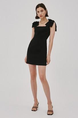C/Meo VALANCE MINI DRESS Black