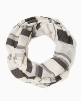 Charming charlie Peppermint Striped Infinity Scarf