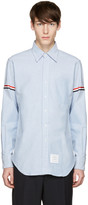 Thom Browne Blue Oxford Grosgrain Classic Shirt