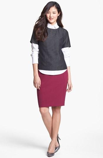 Halogen Seamed Pencil Skirt