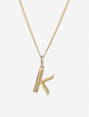 Rachel Jackson Art Deco initial gold-plated sterling silver necklace