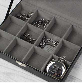 Personalised Large Mens Cufflinks Box