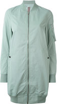 Rick Owens long bomber jacket - women - Cotton/Polyamide - XS
