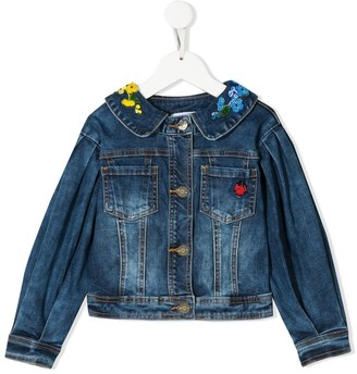 MonnaLisa Embroidered Denim Jacket