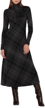 Ralph Lauren Collection Cashmere Plaid Cashmere Sweater Dress