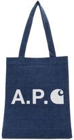 A.P.C. Indigo Carhartt WIP Edition Tote