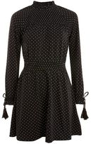 Topshop Spot shirred waist dress