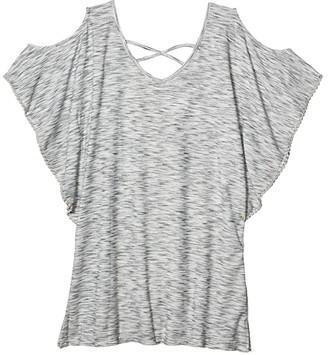 Dotti Ocean Tide Cold-Shoulder Tunic Cover-Up (Grey) Women's Swimwear