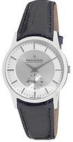 Dreyfuss & Co Dgs00001/02 1946 Leather Strap Watch, Black/silver