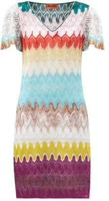 Missoni V-neck Knitted Dress - Multi