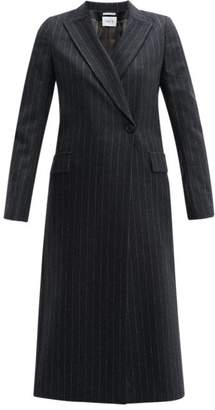 Pallas X Claire Thomson Jonville X Claire Thomson-jonville - Forsythe Single-breasted Pinstripe-wool Coat - Womens - Grey Multi
