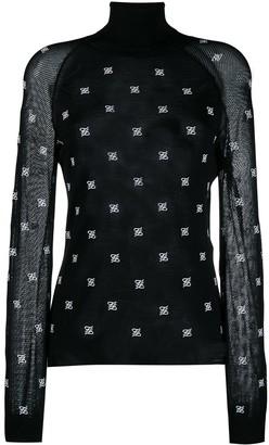 Fendi Karligraphy motif turtle neck pullover