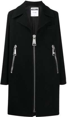 Moschino Oversized Zipper Detailed Coat