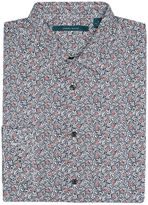 Perry Ellis Long Sleeve Floral Garden Print Shirt