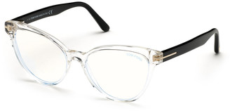 Tom Ford Blue Block Cat-Eye Acetate Optical Frames