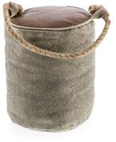 Round Canvas & Leather Door Stopper