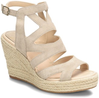 Sofft Leather Wedge Sandals - Shandy