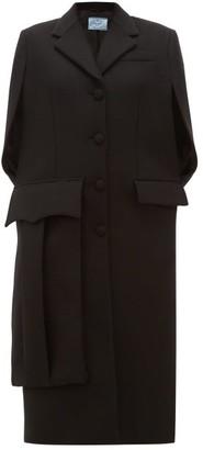 Prada Sleeveless Wool Cape Coat - Womens - Black