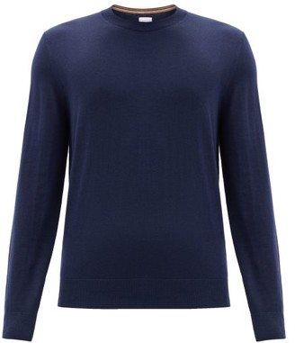 Paul Smith Crew-neck Merino-wool Sweater - Navy