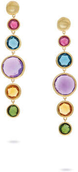 Marco Bicego Jaipur Drop Earrings with Mixed Elevated Gemstones