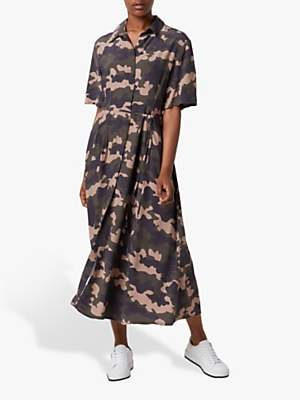 French Connection Carri Drape Camo Dress, Multi