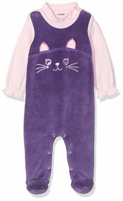 Schnizler Baby Girls' Strampler-Set Nicki Katze Footies