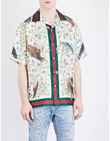 Gucci Bird-print Silk Shirt