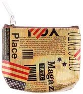 Generic 4 Colors Boys Girls Coin Purses PU Mini Bag Fashion Zip Womens Wallet
