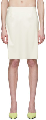 Kwaidan Editions White Latex Miniskirt