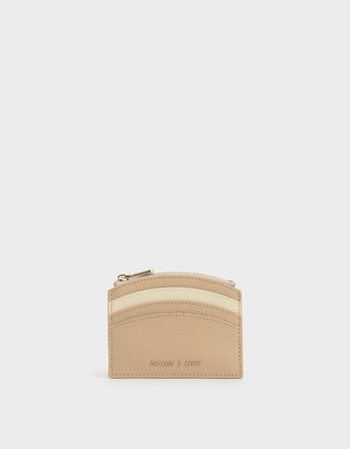 Charles & Keith Two-Tone Multi-Slot Zip Card Holder