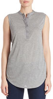 DKNY Silk-Rich Sheer-Back Jersey Top