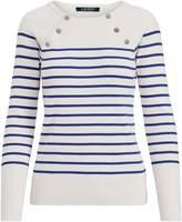Lauren Ralph Lauren Ralph Lauren Button-Shoulder Cotton Sweater