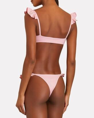 Frankie's Bikinis Birdie Ruffled Bikini Top