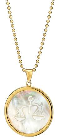 Asha Zodiac Mother-of-Pearl Pendant Necklace