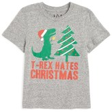 JEM T-Rex Hates Christmas Graphic T-Shirt (Toddler Boys & Little Boys)