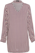 Oxford Colette Geo Prnt Tunic Dress Multix