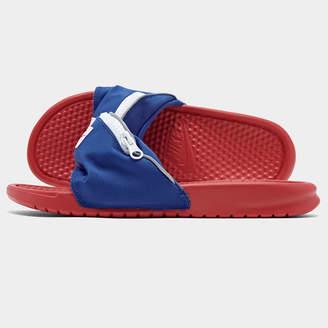 Nike Men's Benassi JDI Fanny Pack Slide Sandals