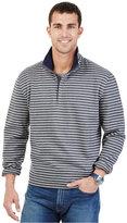 Nautica Striped Quarter-Zip Collar Fleece