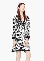Mango Outlet Geometric Print Dress