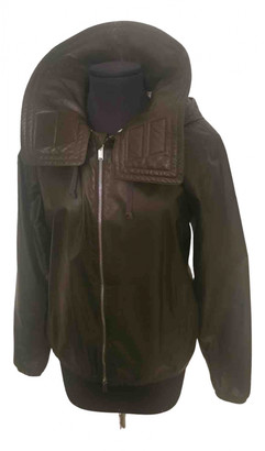 Celine Khaki Leather Jackets