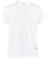 Raf Simons Logo-embroidered crew-neck cotton T-shirt