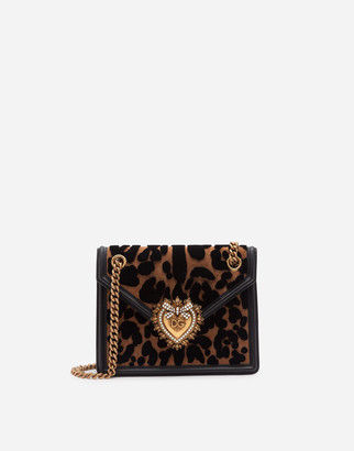 Dolce & Gabbana Medium Devotion Bag In Velvet Stitch