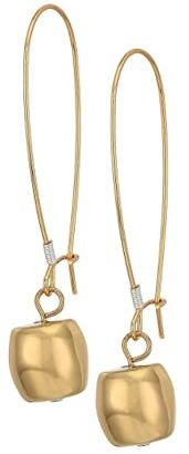 Robert Lee Morris Ball Shepherd's Hook Earrings (Gold) Earring